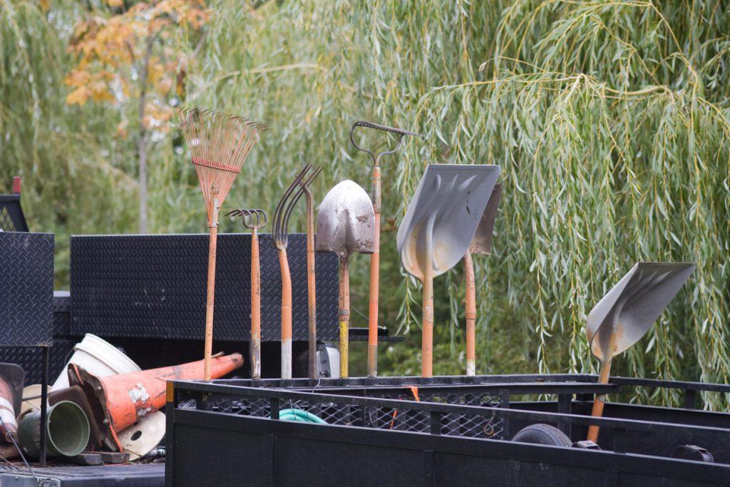 City park gardening tools