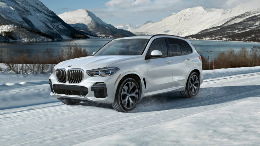best cars for towing a trailer BMW X5 in the snow