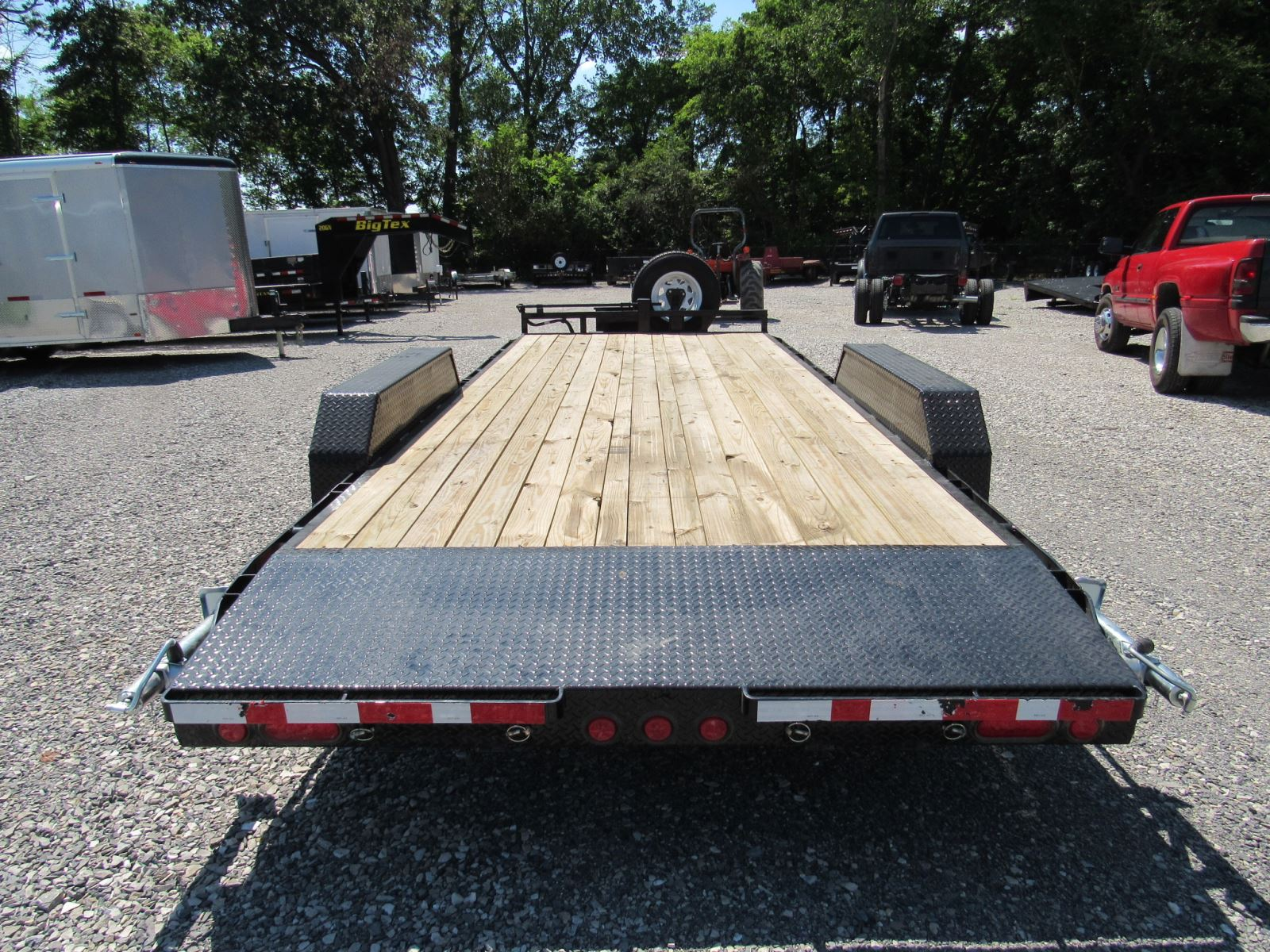 Trailers For Rent In Southern Illinois Country Blacksmith Double Car Trailer 24 Foot Gooseneck Flatbed Hauler With Ramps 2
